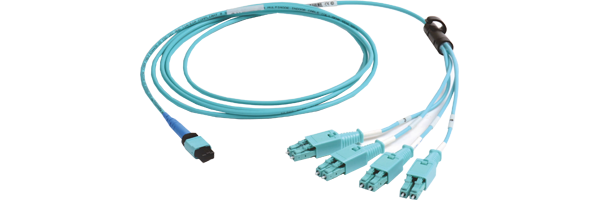 Base 8 MTP® to LC BladePatch® 4 X 10G Hybrid Equipment Cords