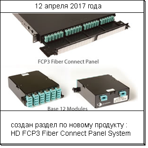 FCP3-DWR-4A - HD FCP3 Fiber Connect Panel System